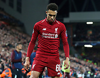 Liverpool's Trent Alexander-Arnold sets up the corner kick from which Divock Origi scored the winning goal<br /> <br /> Photographer Rich Linley/CameraSport<br /> <br /> UEFA Champions League Semi-Final 2nd Leg - Liverpool v Barcelona - Tuesday May 7th 2019 - Anfield - Liverpool<br />  <br /> World Copyright &copy; 2018 CameraSport. All rights reserved. 43 Linden Ave. Countesthorpe. Leicester. England. LE8 5PG - Tel: +44 (0) 116 277 4147 - admin@camerasport.com - www.camerasport.com