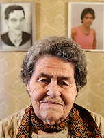 Salvadora Arranz, 87 years old, is pictured in her home of Irun on february 19, 2009, in the Basque Country. Salvadora Arranz has two sons, Antxon and Txomin Troitiño, that are imprisoned in two Spanish prisons to more than 800 kilometres from the Basque Country. Salvadora receives a weekly call timed 4 minutes and 58 seconds of each son. (Ander Gillenea / Bostok Photo)