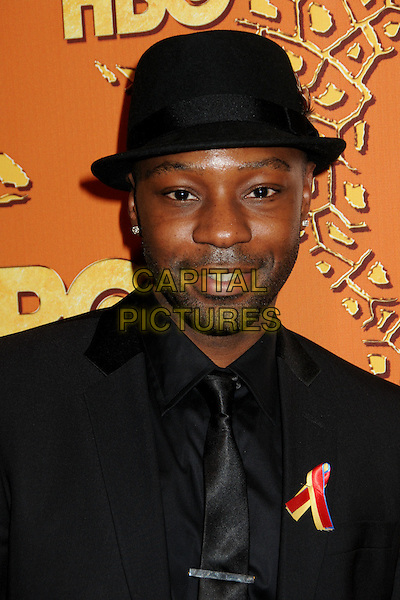 NELSAN ELLIS.HBO's 2010 67th Golden Globe Awards Post Party held at the Beverly Hilton Hotel, Beverly Hills, California, USA. .January 17th, 2009 .globes headshot portrait black hat stubble facial hair.CAP/ADM/BP.©Byron Purvis/Admedia/Capital Pictures