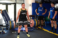 Kieran Verden of Bath Rugby in the gym. Bath Rugby pre-season training on July 2, 2018 at Farleigh House in Bath, England. Photo by: Patrick Khachfe / Onside Images