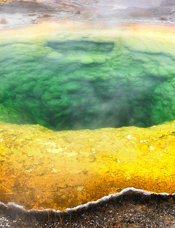 Morning Glory Pool. Yellowstone National Park, Wyoming