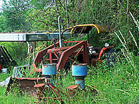 Allis Chalmers tractor and cat, Oakville, Washington.  2007.