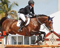 Nice De Prissey ridden by Brianne Goutal,  USEF trials#2 Wellington Florida. 3-22-2012