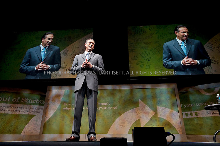 3/18/2009--Seattle, WA, USA..Howard Schultz,  Chairman and CEO of Starbucks, speaking to shareholders at the 2009 shareholders meeting in Seattle, Washington...2009 Stuart Isett. All rights reserved.