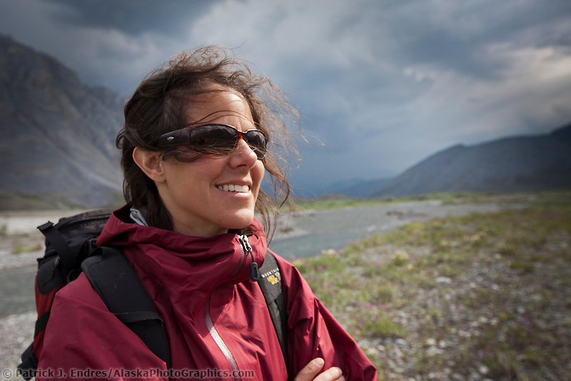 Ali blechman on a hike in the Arctic National Wildlife Refuge in the Brooks Range mountains, Alaska.