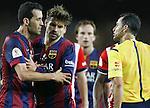 Sergio Busquets, Gerard Pique (Barcelona), Carlos Velasco Carballo (Referee)