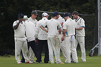 Drinks are taken during Goresbrook CC (Bowling)  vs Rainham CC (Batting), T Rippon Mid Essex Cricket League Cricket at May & Baker Sports Club on 12th May 2018