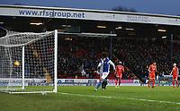 Blackburn Rovers' Danny Graham scoring his side's second goal <br /> <br /> Photographer Rachel Holborn/CameraSport<br /> <br /> The EFL Sky Bet League One - Blackburn Rovers v Shrewsbury Town - Saturday 13th January 2018 - Ewood Park - Blackburn<br /> <br /> World Copyright &copy; 2018 CameraSport. All rights reserved. 43 Linden Ave. Countesthorpe. Leicester. England. LE8 5PG - Tel: +44 (0) 116 277 4147 - admin@camerasport.com - www.camerasport.com