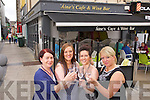 Mags O'Donnell, Nicola O'Reilly, Aine Collins, Owner, Catherine Hanafin, Manager at Aine's Cafe and Wine Bar the Square Tralee on Friday