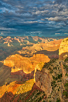 Sunset light, Grand Canyon National Park, Arizona  Hopi Point  Colorado River  West Rim , Grand Canyon National Park, Arizona  Colorado River