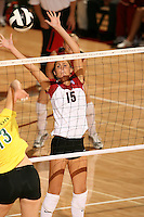 27 October 2005: Michelle Mellard during Stanford's 3-0 win over Oregon at Maples Pavilion in Stanford, CA.