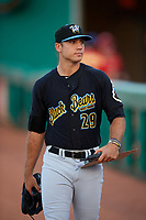 West Virginia Black Bears pitcher Will Gardner (29) before a game against the State College Spikes on August 30, 2018 at Medlar Field at Lubrano Park in State College, Pennsylvania.  West Virginia defeated State College 5-3.  (Mike Janes/Four Seam Images)
