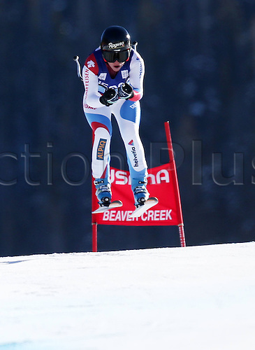 30.11.2013. Beaver Creek, Colorado, USA. Womens Super G downhill skiing world cup. Lara Gut (SUI).