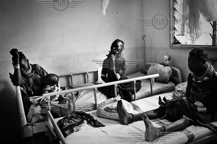 Mothers with their malnourished children at the stabilisation centre of the Lokitaung District Hospital.