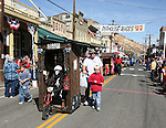 The outhouses in the pre-race parade.  Photo by Tom Smedes.