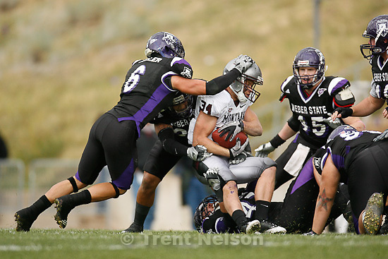 Trent Nelson  |  The Salt Lake Tribune. during the first half, Weber State vs. Montana, college football Saturday, October 30, 2010.