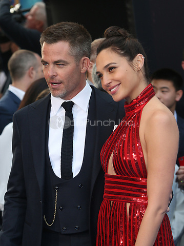 HOLLYWOOD, CA - MAY 25: Chris Pine, Gal Gadot, at the Wonder Woman Los Angeles Film Premiere at The Pantages in Hollywood, California on May 25, 2017. Credit: Faye Sadou/MediaPunch