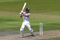 Alastair Cook hits 4 runs for Essex during Lancashire CCC vs Essex CCC, Specsavers County Championship Division 1 Cricket at Emirates Old Trafford on 10th June 2018