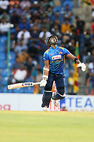 March 1st 2020,Pallekele International Cricket Stadium, Balagolla, Sri Lanka; One Day International cricket, Sri Lanka versus West Indies; Thisara Perera mishits the ball high and is caught out