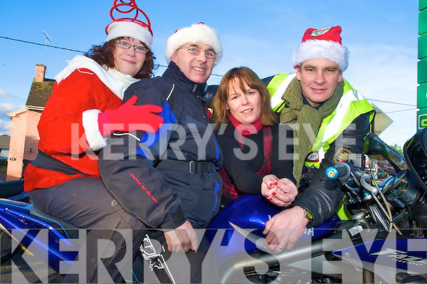 Pictured at the Killarney Bikers Toy Run on Sunday were Brid Coffey, John Fleming, Eilish Coffey and John Nicholls.