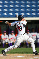 March 6 2009: Ryan Heroy of the Pepperdine Waves in action against the Evansville Purple Aces at Eddy D. Field Stadium in Malibu,CA.  Photo by Larry Goren/Four Seam Images