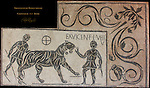 1st c AD Mosaic Tiger led to the Arena by Bestiarius Colosseum Rome