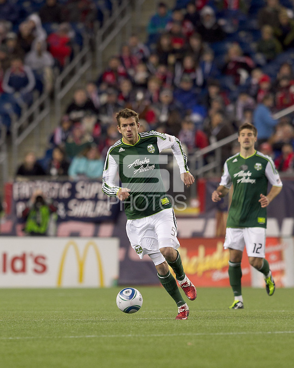 Portland Timbers defender Eric Brunner (5). In a Major League Soccer (MLS) match, the New England Revolution tied the Portland Timbers, 1-1, at Gillette Stadium on April 2, 2011.
