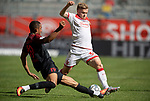 Jean ZIMMER r. (D) im Zweikampf gegen Felix UDUOKHAI (A),  Aktion, <br /><br />Fussball 1. Bundesliga, 33.Spieltag, Fortuna Duesseldorf (D) -  FC Augsburg (A), am 20.06.2020 in Duesseldorf/ Deutschland. <br /><br />Foto: AnkeWaelischmiller/Sven Simon/ Pool/ via Meuter/Nordphoto<br /><br /># Editorial use only #<br /># DFL regulations prohibit any use of photographs as image sequences and/or quasi-video #<br /># National and international news- agencies out #