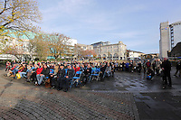 Pictured: Hundreds of people attend the service Friday 11 November 2016<br />