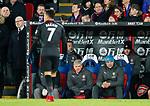Arsenal's Arsene Wenger watches Alexis Sanchez during the premier league match at Selhurst Park Stadium, London. Picture date 28th December 2017. Picture credit should read: David Klein/Sportimage