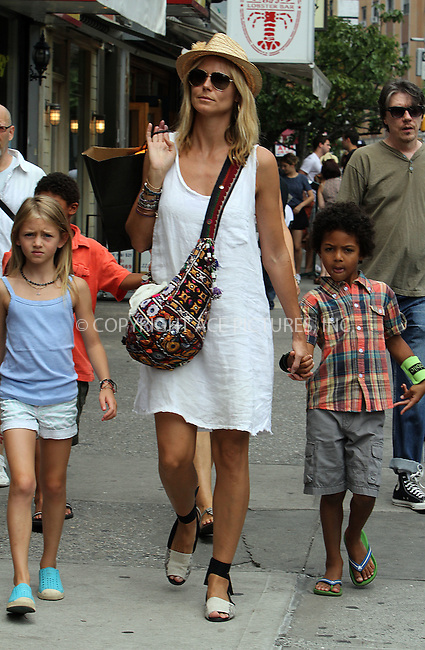 WWW.ACEPIXS.COM . . . . .  ....July 14 2012, New York City....TV personality Heidi Klum took her kids for a walk around Soho on July 14 2012 in New York City....Please byline: NANCY RIVERA- ACEPIXS.COM.... *** ***..Ace Pictures, Inc:  ..Tel: 646 769 0430..e-mail: info@acepixs.com..web: http://www.acepixs.com