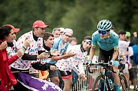 Pello Bilbao (ESP/Astana) fights his way up the Horquette d'Ancizan<br /> <br /> Stage 12: Toulouse to Bagnères-de-Bigorre(209km)<br /> 106th Tour de France 2019 (2.UWT)<br /> <br /> ©kramon