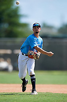 Matthew Corpas during the WWBA World Championship at the Roger Dean Complex on October 19, 2018 in Jupiter, Florida.  Matthew Corpas is a second baseman from Miami, Florida who attends Doral Academy Charter High School.  (Mike Janes/Four Seam Images)