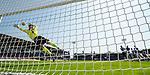25.08.2019 St Mirren v Rangers: Borna Barisic scores for Rangers past Vaclav Hladky