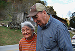 Ronnie and Janet Barnett of Rousseau, KY take a walk on their property on October 14th, 2011. Photo by Lauryn Morris.