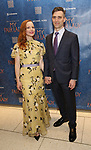Lauren Ambrose and Sam Handel attends the Broadway Opening Night Celebration for 'My Fair Lady' at The Grand Promenade, David Geffen Hall on April 19, 2018 in New York City.