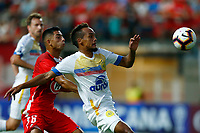 LA CALERA, CHILE, 05.02.2019 - UNION LA CALERA-CHAPECOENSE - Jonathan Andia (E) e Bruno De Jesus (D), durante partida entre Union La Calera e Chapecoense valida pela primeira fase da Copa Conmebol Sulamericana no Estadio Nicolas Chahuan no Chile nesta terça-feira, 05.  (Foto: Pablo Vera-lisperguer/Brazil Photo Press/Xpress Media)