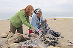 Emma & Rosita On Beach Cleanup