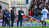 Blackburn Rovers manager Tony Mowbray shouts instructions to his team from the technical area<br /> <br /> Photographer Alex Dodd/CameraSport<br /> <br /> The EFL Sky Bet Championship - Blackburn Rovers v Preston North End - Saturday 9th March 2019 - Ewood Park - Blackburn<br /> <br /> World Copyright © 2019 CameraSport. All rights reserved. 43 Linden Ave. Countesthorpe. Leicester. England. LE8 5PG - Tel: +44 (0) 116 277 4147 - admin@camerasport.com - www.camerasport.com