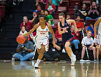 STANFORD, CA - March 17, 2018: Kiana Williams at Maples Pavilion. The Stanford Cardinal defeated the Gonzaga Bulldogs 82-68 to advance to the second round of the NCAA tournament.
