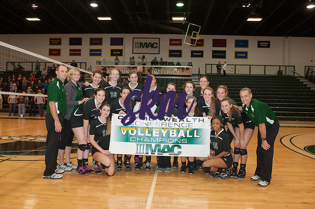 Stevenson women's volleyball captured their third straight conference championship as the defeated Messiah 3-2 Saturday afternoon at Owings Mills gymnasium.
