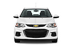 Car photography straight front view of a 2017 Chevrolet Sonic LT 4 Door Sedan Front View