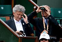Internationaux de France de tennis de Roland-Garros - Paris - Nelson Montfort en tribune