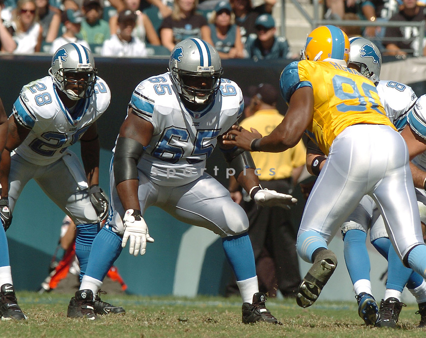 STEPHEN PETERMAN, of the Detroit Lions, in action during the LIons games against the Philadelphia Eagles, in Philadelphia, PA on September 23, 2007.  The Eagles won the game 56-21...........