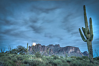 Moon rise at Lost Dutchman State Park - Arizona