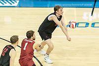 Los Angeles, CA - February 7, 2019.  The Stanford Cardinal vs the UCLA Bruins in Men's Volleyball.  Final Score, UCLA 3, Stanford 2