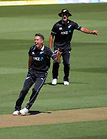 Trent Boult appeals during the One Day International cricket match between NZ Black Caps and India at Westpac Stadium in Wellington, New Zealand on Sunday, 3 February 2019. Photo: Dave Lintott / lintottphoto.co.nz
