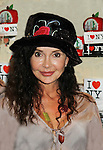 "General Hospital's Jackie Zeman who tries on Jane Elissa's many Hats for Health on September 10, 2010 at the New York Marriott Marquis, New York, New York as Daytime's TV and  Broadway stars get involved in helping launch Jane Elissa's ""Hats For Health"" to promote awareness and to raise money for Leukemia and cancer research.   (Photo by Sue Coflin/Max Photos)"