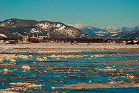 Ice near Baie Saint-Paul,Saint-Lawrence river  <br /> <br /> PHOTO  : Guy Sabourin<br />  - Agence Quebec Presse
