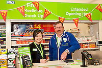 Pictured from left are Pharmacist Ju Li Cheng, Peter Culpin, Alvin Sheldon, Ashley Dearlove and Dispensing Assistant Sam Maxwell at Newark ASDA